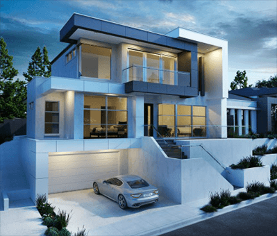 Modern House Designed by a Building Designer in Adelaide, white and grey colour
